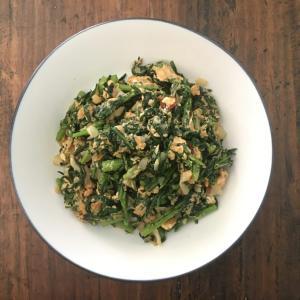 卵と春菊のインド風炒め物/いつもの炒め物に変化をつける。