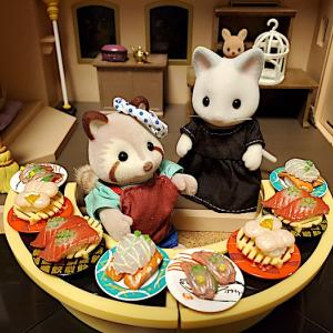 ねるさん「寿司屋」で働く♪