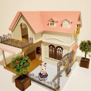 ピンクの屋根のお家♫