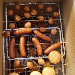 ダンボールで燻製をつくったよ!【北海道第9団:釧路市】