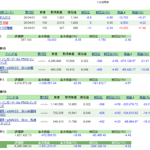 含み損ー150万、日本個別株ついに購入