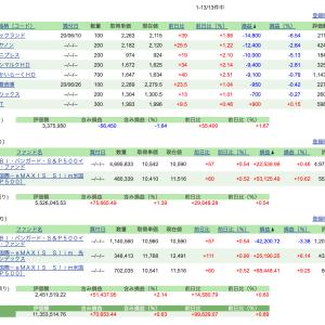 日本株ナンピンで合計300万ほど購入