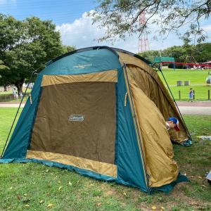 【犬とキャンプ】コールマン・スクリーンキャノピージョイントタープⅢでキャンプを快適に・coleman