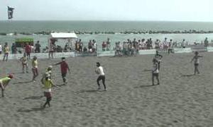 2012全国女子 決勝ビーチラグビー(ビーチフットボール)