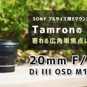 【作例・レビュー】タムロン 20mm F/2.8 Di III OSD M1:2 | 軽量で寄って撮れるソニー用の広角単焦点レンズ