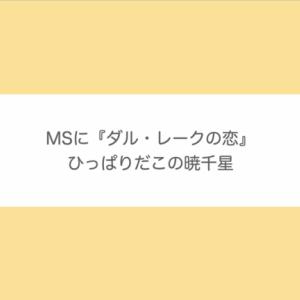 暁千星|MS・『ダル・レークの恋』出演決定に想いを馳せる♡【宝塚歌劇 月組】
