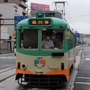 四国一周⑧ とさでん はりまや橋の平面交差 7/25