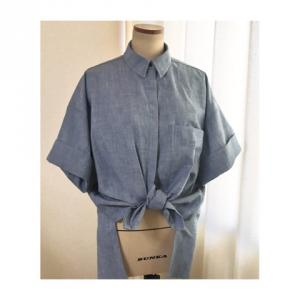 比翼の台衿半袖シャツ