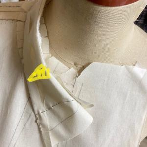 立体裁断でシャツ④ 衿