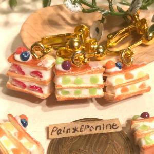 【新作】フルーツたっぷりミルフィーユのミニチュア雑貨♡