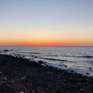 日本海の夕日スポット!北海道岩内町の夕日を眺めに敷島内へ