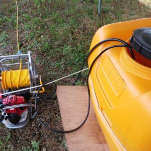 高圧発電所、除草剤効果の比較