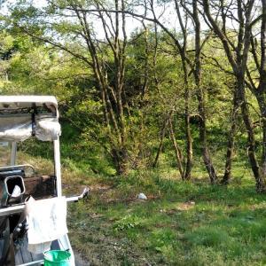 初夏の陽気の休日に、達人はひとり山へ芝刈りへ行った。