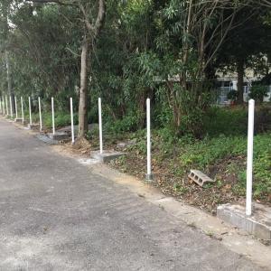 一色中学校の新たなフェンスの設置が始まりました!、厚生委員会