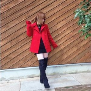 赤♦️×黒♠️コーデ
