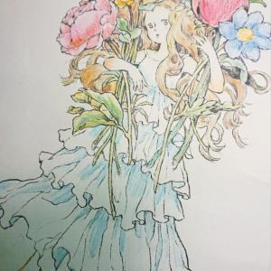 井田千秋さんのダウンロード塗り絵  1