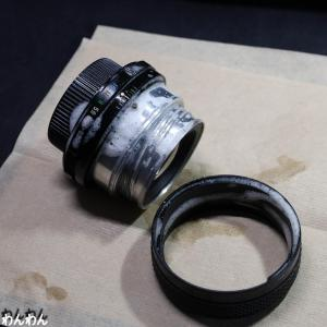 fujinon 55mm2.2 皮脂汚れがきたない、ヘリコイドはガタガタ・・・強制洗浄!