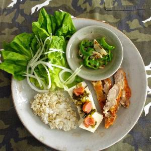 鶏もも肉の味つけ冷凍→お昼のワンプレートごはん。