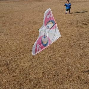 次男1歳 凧揚げ