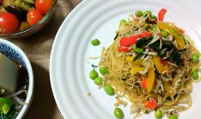 盛りだくさん夏野菜!茄子の揚げ浸しと夏野菜パスタ