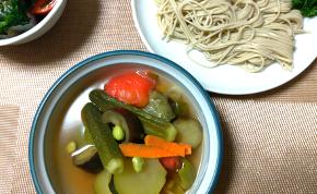 たっぷり夏野菜の『へぎ蕎麦』
