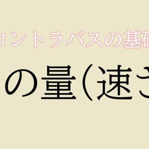 【コントラバス】弓の量(速さ) / 基本【初心者編】