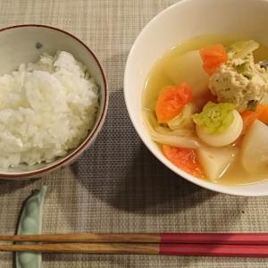 おとといの夜ごはん<酸辣湯風スープ>
