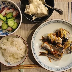 毎日の夜ごはん<いわしの生姜煮>