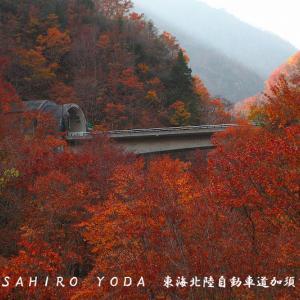 東海北陸自動車道加須良橋(岐阜県白川村)