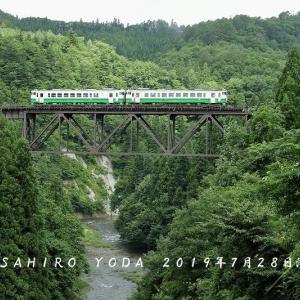 2019年7月28日 滝谷川橋梁(福島県柳津町)