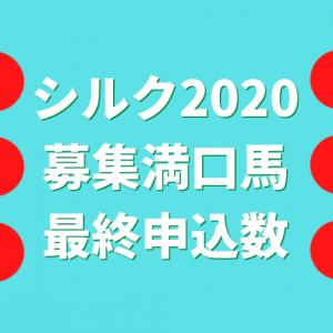 シルク2020募集満口馬最終申込数