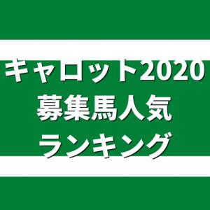 キャロット2020募集馬☆★☆人気ランキング10位→1位☆★☆