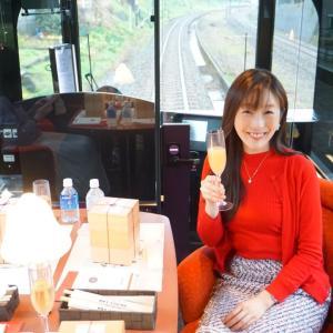 観光列車ランキング1位の「雪月花」!優雅なハイデッキシートでした♡