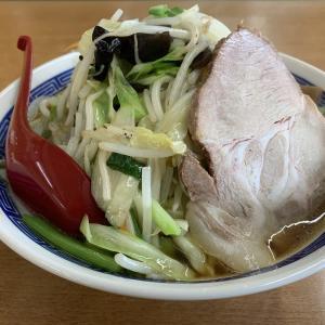 山盛り野菜がおじさんにも嬉しい。珍しい醤油タンメンをいただく! ラーメンSunQ2号店