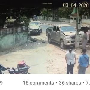【Today's Laos】カメラがとらえた衝撃の事故