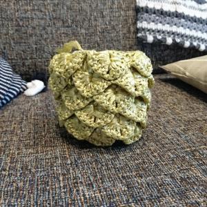 『オトナ女子のデイリークロッシェ』より、パイナップルポーチを編み始めて…そして解きました。