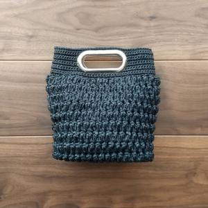『ビヨンドザリーフのバッグスタイル』より「バロン」を編みました。