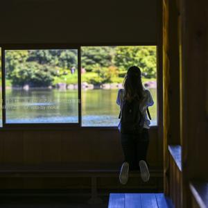 【公園スナップ撮影】日本庭園を見つめる後ろ姿