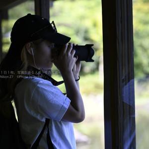 【公園スナップ撮影】公園でカメラ女子を撮影