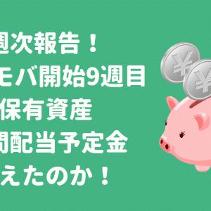 [週次報告]ネオモバ9週目の保有資産・年間配当予定金を公開!
