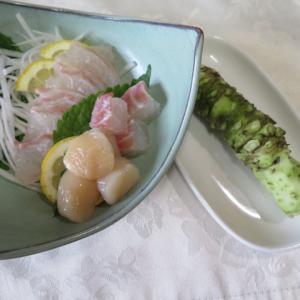 香り楽しみたくて はりこんだ(^^)  美味しいね。夕食♪