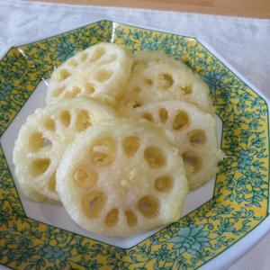 美しいレンコンは美味しい。(^^) 美味しいね。夕食♪