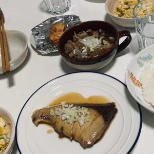 夫が作った夕飯