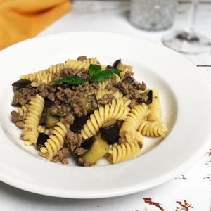 ナスとひき肉のパスタ【レシピ】