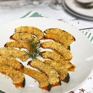 かぼちゃのパン粉焼き【レシピ】