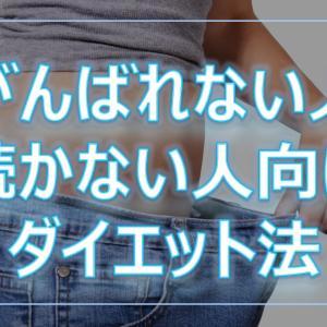 30代のダイエット法!~がんばれない人向け~※実績有