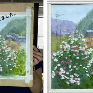秋桜と線路(生徒作品)