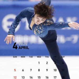 4月のカレンダー♪ 真央ちゃんとしょうま♥