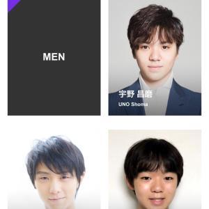 宇野昌磨&島田高志郎 スケート連盟強化選手ページより 紹介&バイオなど 2020年