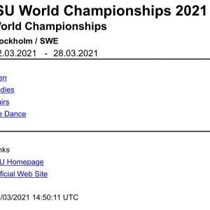 世界選手権2021 エントリー